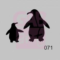 Plastová šablona - tučňáci, 071