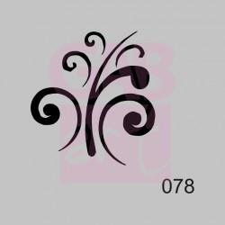 Ornament  - šablona 078