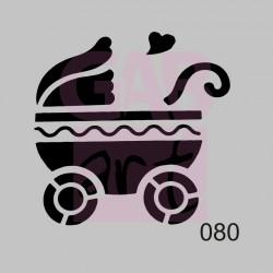 Kočárek  - šablona 080
