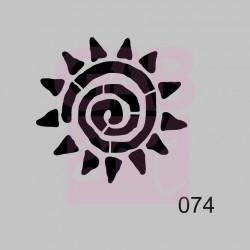 Plastová šablona - slunce ornament, 074