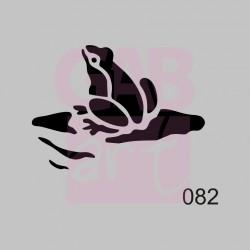 Žába - šablona 082