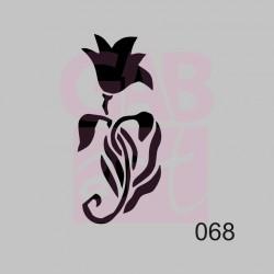 Tulipán  - šablona 068