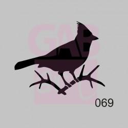 Plastová šablona - ptáček, 069
