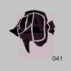 Rybka  - šablona 041