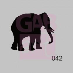 Slon  - šablona 042