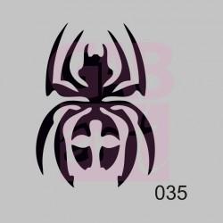 Pavouk  - šablona 035