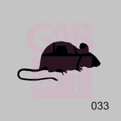 Plastová šablona - myš, 033