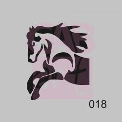 Plastová šablona - kůň, 018