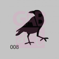 Plastová šablona - havran, 008