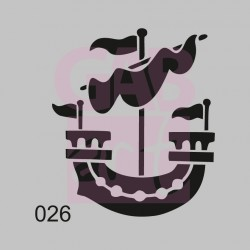 Loď  - šablona 026