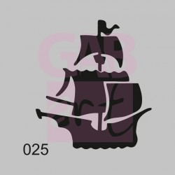 Loď  - šablona 025