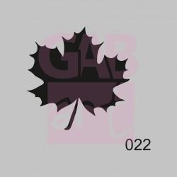 Javorový list  - šablona 022