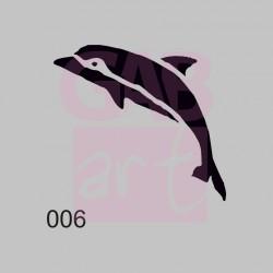 Delfín  - šablona 006