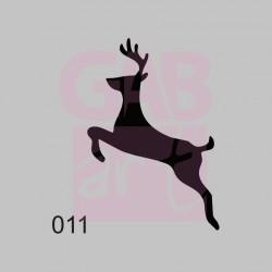 Plastová šablona - jelen, 011