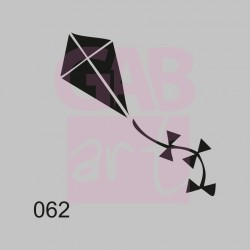 Plastová šablona - drak, 062