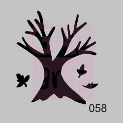 Strom s listy  - šablona 058
