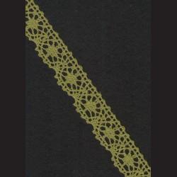 Krajka olivová č. 1, š. 25 mm