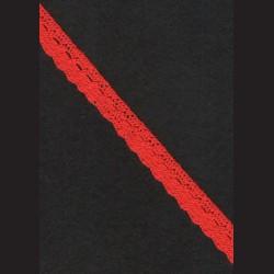 Krajka světle červená č. 1, š. 15 mm