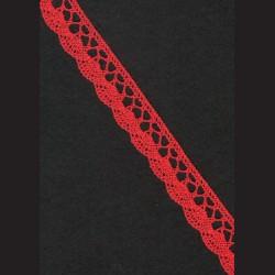 Krajka tmavě červená č. 1, š. 21 mm