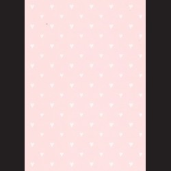 Karton světle růžový - srdíčka