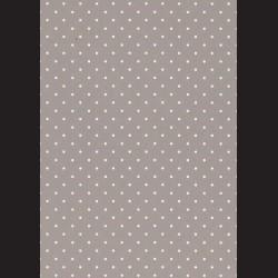 Karton šedý - tečky