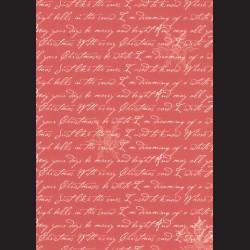 Karton červený - písmo č. 3