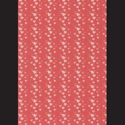 Karton červený - srdíčka č. 2