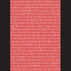 Karton červený - písmo