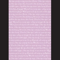 Karton světle fialový - písmo