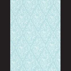 Karton světle modrý - ornament č. 1
