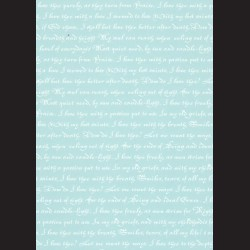 Karton světle modrý - písmo