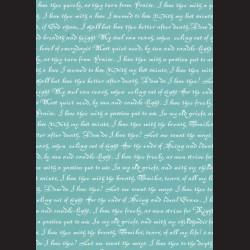 Karton tyrkysový - písmo č. 1
