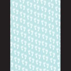 Karton světle modrý - stopy