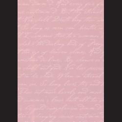 Karton starorůžový - písmo č. 2