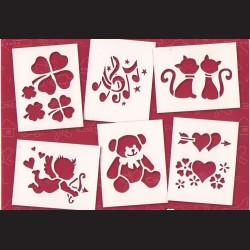 Papírové šablony - Láska