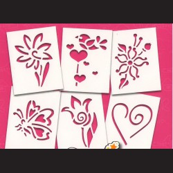 Papírové šablony - JARNÍ, 6 ks