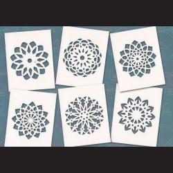 Papírové šablony MANDALY - 6ks