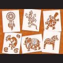 Papírové šablony - ETNO, 6 ks