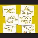 Papírové šablony - DINOSAUŘI, 6 ks