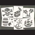 Papírové šablony - PIRÁTI,  6 ks