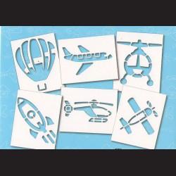 Papírové šablony LETADLA - 6ks