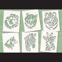 Papírové šablony - ZOO 1., 6 ks