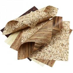 Sada origami papírů, mix dřevo