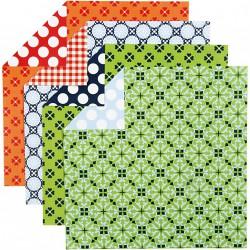 Sada origami papírů - barevný mix, 15 x 15 cm, 50 ks