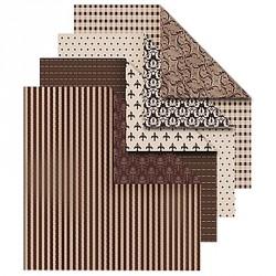 Sada origami papírů - hnědý mix, 15 x 15 cm, 50 ks