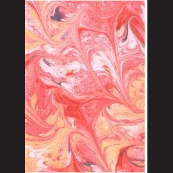 Fotokarton  A4 mramor červený, tvrdý karton 300g vhodný na výrobu přání, tvoření s dětmi, scrapbook a další tvoření
