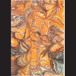Fotokarton  A4 mramor oranžový, tvrdý karton 300g vhodný na výrobu přání, tvoření s dětmi, scrapbook a další tvoření