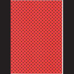 Fotokarton A4 Puntíky červené/černé