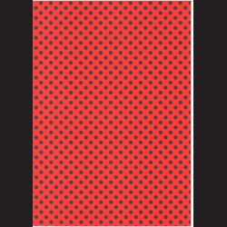 Fotokarton  A4 puntíky červené / černé, tvrdý karton 300g vhodný na výrobu přání, tvoření s dětmi, scrapbook a další tvoření