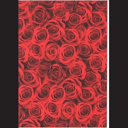 Fotokarton  A4 rudé růže, tvrdý karton 300g vhodný na výrobu přání, tvoření s dětmi, scrapbook a další tvoření